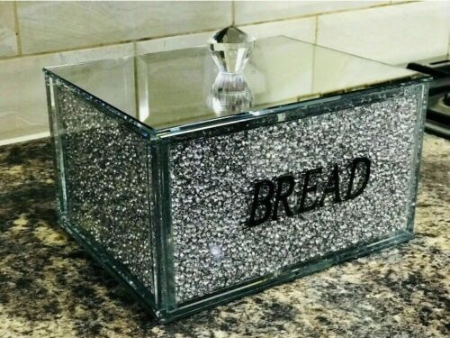 XL Crushed diamond bread bin Silver